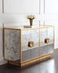 Living Room Chests Cabinets Mirrored Buffets And Cabinets For A Brighter Home Decor Modern