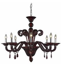 elegant lighting 7868d36rd rc muse 8 light 36 inch red dining chandelier ceiling light in