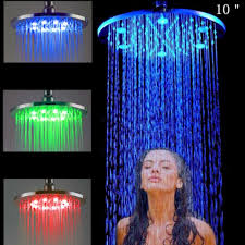 big rain shower head led shower head color changing round shower head