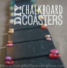 diy chalkboard coaster set how to make chalkboard coasters easy diy monogram chalkboard paint