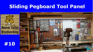 Sliding Pegboard Tool Panel 10 Youtube