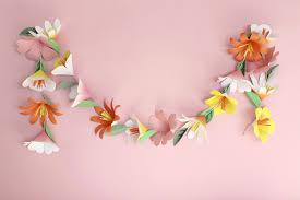 White Paper Flower Garland Paper Flower Garlands Zlatan Fontanacountryinn Com