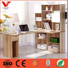 interesting wooden computer desk with bookshelf for