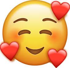 Smile Emoji With Hearts [Free Download All Emojis]   Emoji Island