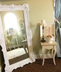 white floor mirror. Antique White Floor Mirror