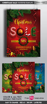 Free Christmas Sale Poster Psd Template On Behance