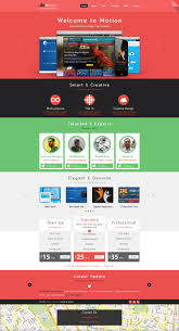 Free Psd Motion Single Page Psd Web Template For Free By Begha On