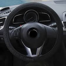 details about breathable black anti slip 15 38cm car truck leather steering wheel cover hot