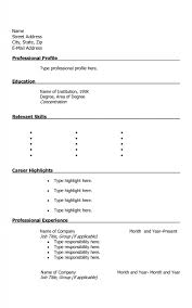 Printable Resume Templates Interesting Free Printable Resume Templates Formatted Templates Example
