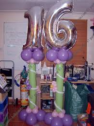 Sweet 16 Balloon display - 30. Sweet 16 Balloon Decorations