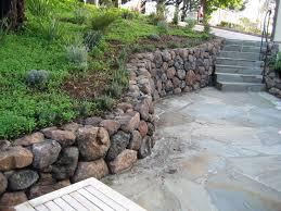 a sonoma fieldstone retaining wall and flagstone patio built by aztec masonry