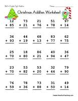 Christmas Double Digit Addition Worksheet - Have Fun TeachingChristmas Double Digit Addition Worksheet. christmas-math-worksheet-2
