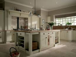White Country Kitchen Design With Wooden Countertop And White ...