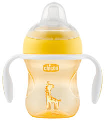 Купить <b>Поильник Chicco Transition Cup</b>, 200 мл желтый по низкой ...