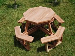 image of shaped kids picnic tables
