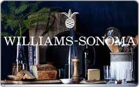 free williams sonoma e gift card 100