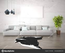 stylish living room comfortable. Plain Stylish Mock Stylish Living Room Large Comfortable Sofa Trendy Hipster Background U2014  Stock Photo With G