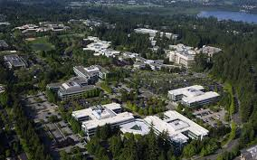 microsoft seattle office. Aerial Shot Of The Microsoft Campus In Redmond. (Ellen M. Banner / Seattle Office
