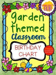 Garden Themed Birthday Chart Classroom Decor With Free Classroom Buntings