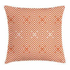 Bullseye Pattern Delectable Burnt Orange Throw Pillow Cushion Cover Rhombuses In Bullseye