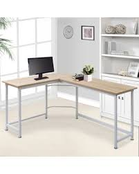 Buy shape home office Cappuccino Modernluxe Lshape Home Office Corner Computer Desk Pc Laptop Table Workstation Wood Metal Overstock Hot Sale Modernluxe Lshape Home Office Corner Computer Desk Pc