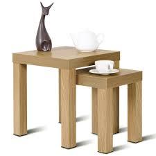 Amazoncom Giantex Accent Nesting End Table Set Wood Color Home