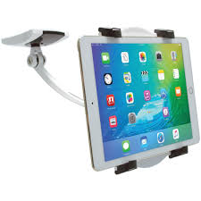 cta ipad tablet wall under cabinet and desk mount with 2 mounting bases