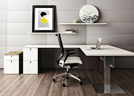 contemporary office desk furniture. white l shaped desk pulse furniture contemporary office
