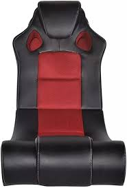 mewmewcat <b>Rocking Chair</b> with <b>Music Artificial</b> Leather Black and ...