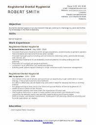 Sample Dental Hygiene Resume Registered Dental Hygienist Resume Samples Qwikresume