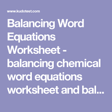 worksheet balancing equations fill in the blanks with most