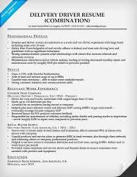 Delivery Driver Resume Sample Delivery Driver Resume Sample School