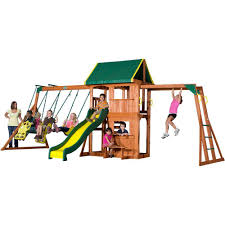 wonderful outdoor playsets for outdoor kid playing backyard discovery prairie ridge all cedar playset 55006com