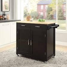 macie black small kitchen cart