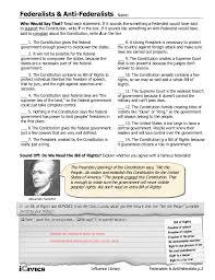 federalists anti federalists mini lesson 2