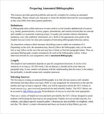7 Annotated Bibliography Templates Free Word Pdf Format