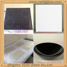 3mm 4mm 5mm vitro ceramic robax fireplace glass panel heat resistant glass