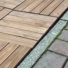 anti slip wooden interlocking decking