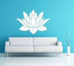 lotus flower vinyl decal wall art spiritual decal namaste wall mural graphics for home kids on spiritual vinyl wall art with lotus flower vinyl decal wall art spiritual decal namaste wall mural