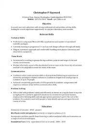 skills set resume