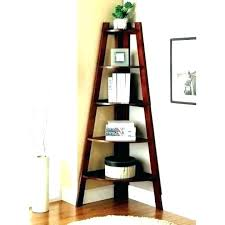wooden ladder bookcase raw oak shelf