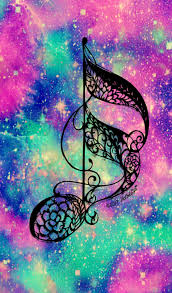 Music note galaxy wallpaper I created ...