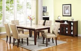 marble top dining room table. The Most Dining Room Table Sets Leather Chairs Exquisite White Marble Top In Ideas