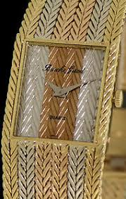 bueche girod 18kt tri color gold y9624 pre owned mens watches