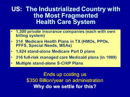 27 1 300 private insurance companies each with own billing system 314 care health plans in tx hmos ppos