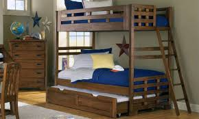 wooden twin bunk beds