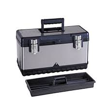 walmart tool box. g_forge hl-3030b 20 inch stainless steel tool box with foldable handle \u0026 inside tray walmart s