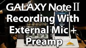 recording audio external mic on samsung galaxy note 2