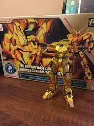 Rg Unicorn Gundam Base Limited Gold Plated Wip Gunpla