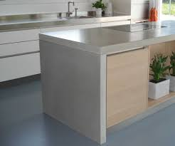 Concrete Countertop Over Laminate Concrete Countertop On Island Waterfall Stylekent Is Making Us